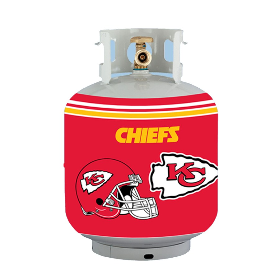 Bottle Skinz 16-in H x 34-in dia Red Polyester Kansas City Chiefs Propane Tank Cover