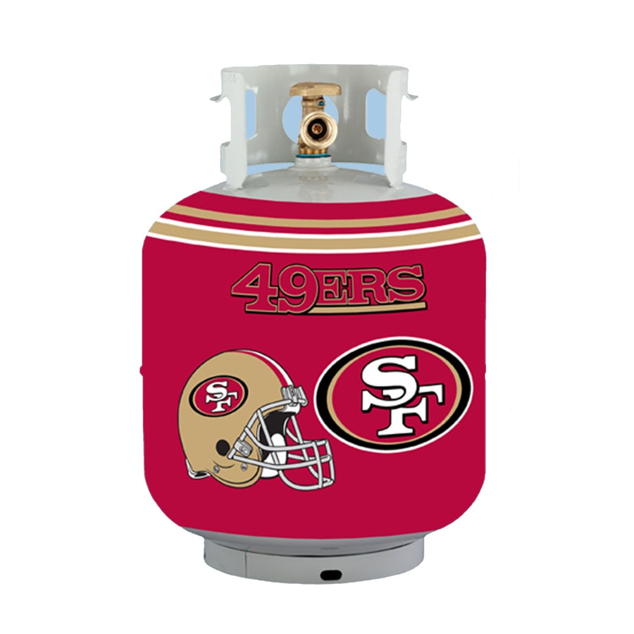Bottle Skinz 16-in H x 34-in dia Navy Polyester San Francisco 49Ers Propane Tank Cover