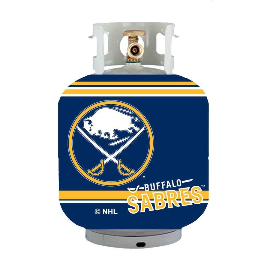Bottle Skinz 16-in H x 34-in dia Blue Polyester Buffalo Sabres Propane Tank Cover