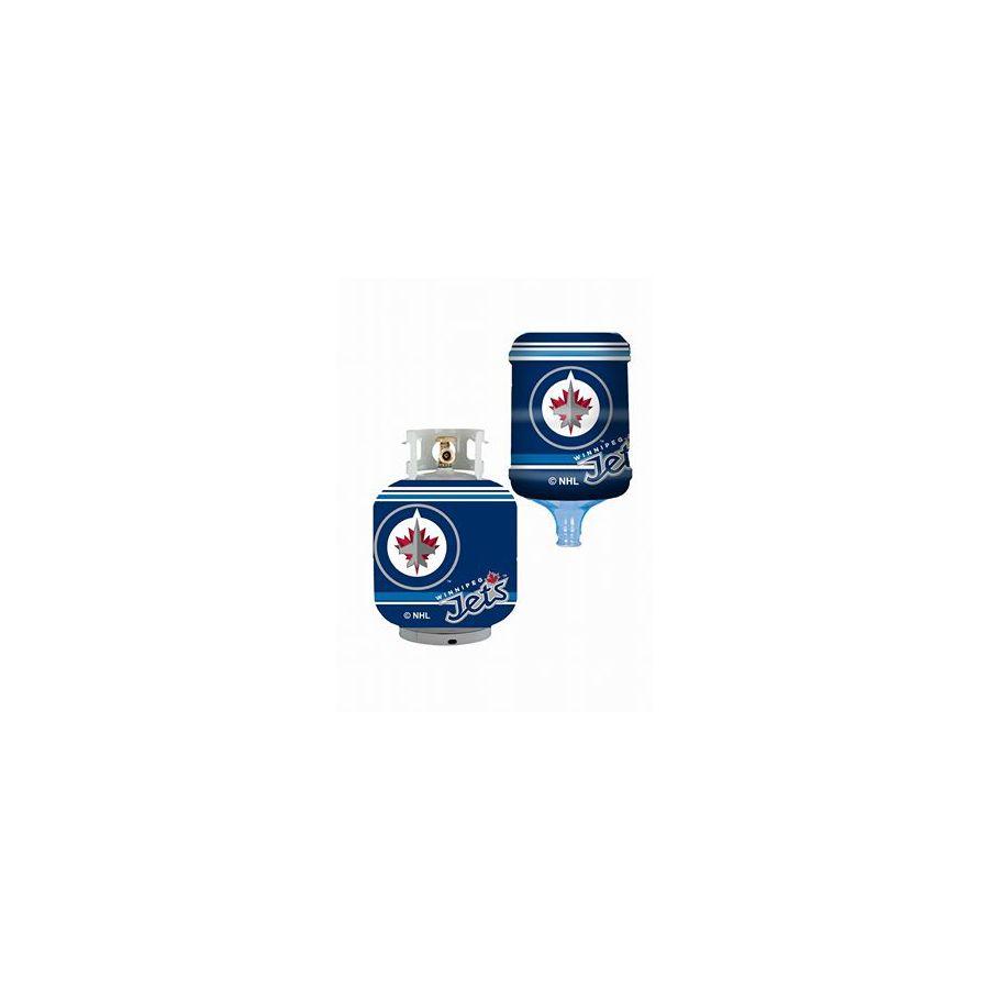 Bottle Skinz 16-in H x 34-in dia Blue Polyester Winnipeg Jets Propane Tank Cover