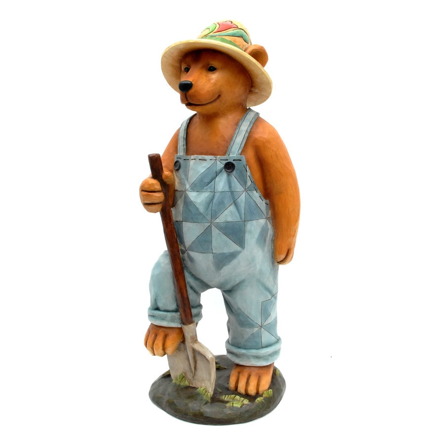 Jim Shore 28.25-in H Farming Bear Garden Statue