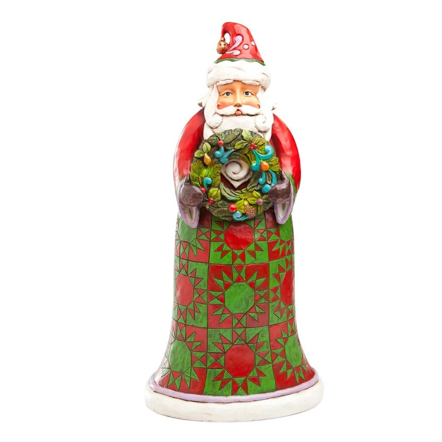 Jim Shore Christmas Resin Santa with Wreath