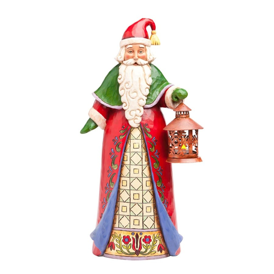 Jim Shore Christmas Resin Santa with Lantern