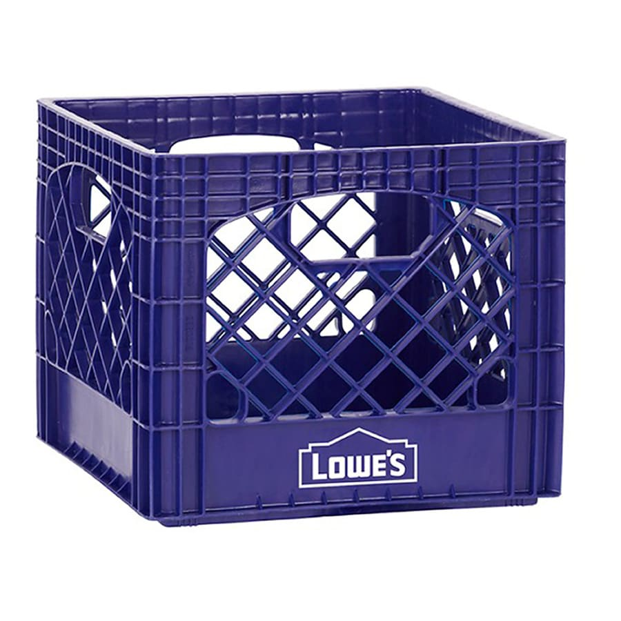 Buddeez 13-in W x 11-in H x 13-in D Navy Blue Plastic Milk Crate