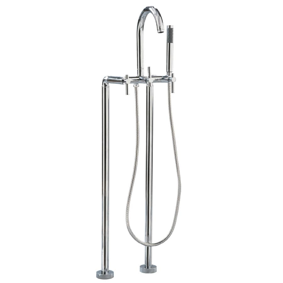 Giagni Contemporary Polished Chrome 2-Handle Bathtub and Shower Faucet with Handheld Showerhead
