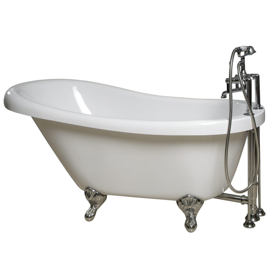 "Giagni 60"" x 30-3/8"" Messina White Oval Clawfoot Tub"