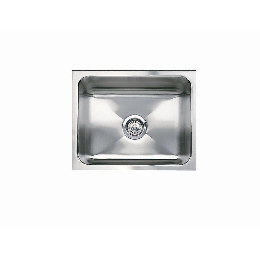 BLANCO Magnum 18-in x 21-in Satin Single-Basin Stainless Steel Undermount Residential Kitchen Sink