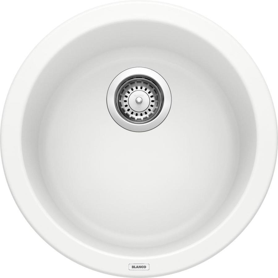 Blanco White Sink : Shop BLANCO Rondo White Granite Residential Bar Sink at Lowes.com