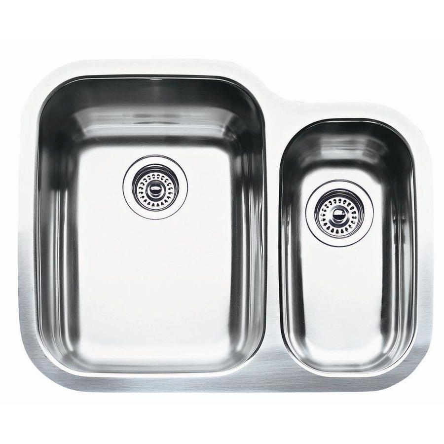 BLANCO Supreme 20.43-in x 25.75-in Stainless Steel Double-Basin Undermount Residential Kitchen Sink