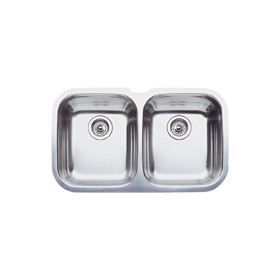BLANCO Niagara 18.12-in x 30.62-in Stainless Steel Single-Basin Undermount (Customizable)-Hole Kitchen Sink