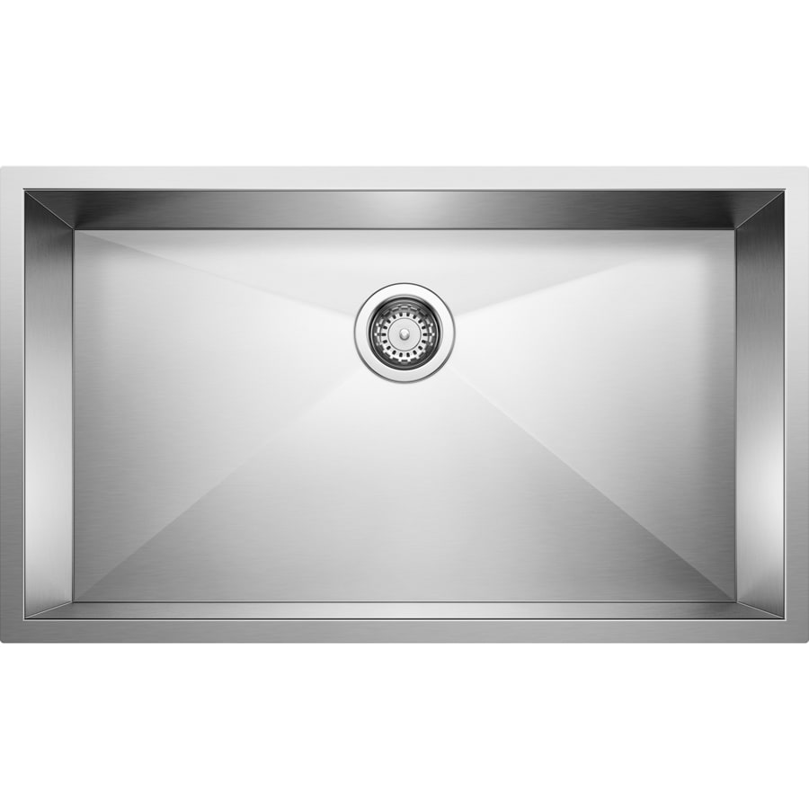 BLANCO Precision 19-in x 32-in Stainless Steel Single-Basin Undermount ...