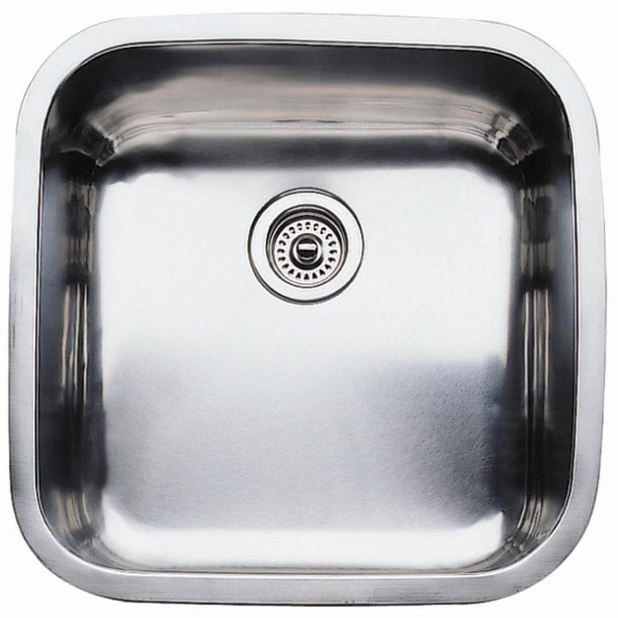 BLANCO Supreme 20.5-in x 20.5-in Satin Single-Basin Stainless Steel Undermount Residential Kitchen Sink