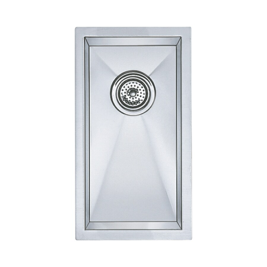 BLANCO Precision 20-in x 11-in Satin Polished Single-Basin Stainless Steel Undermount Residential Kitchen Sink