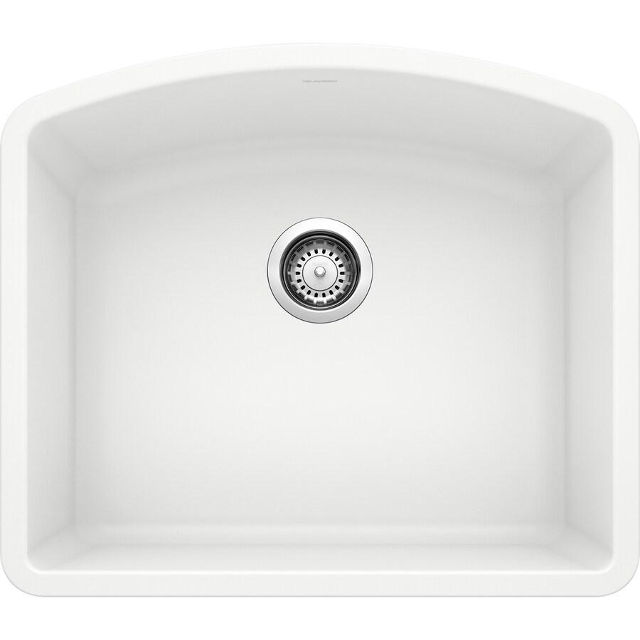BLANCO Diamond 20.813-in x 24-in White Single-Basin Granite Undermount Residential Kitchen Sink