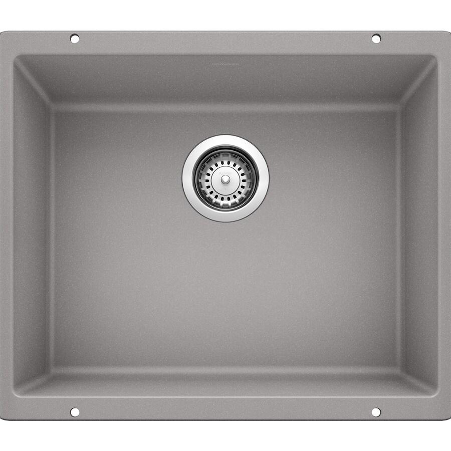 Blanco Precis Sink : BLANCO Precis 18.11-in x 20.87-in Metallic Gray Single-Basin Granite ...