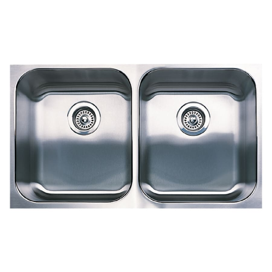 BLANCO Spex Plus 18-in x 31.12-in Stainless Steel Double-Basin Undermount Residential Kitchen Sink