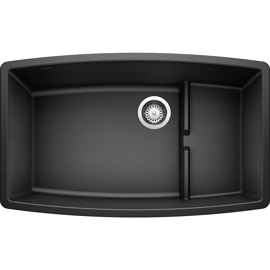 BLANCO Performa 19.5-in x 32-in Anthracite Single-Basin Granite Undermount Residential Kitchen Sink