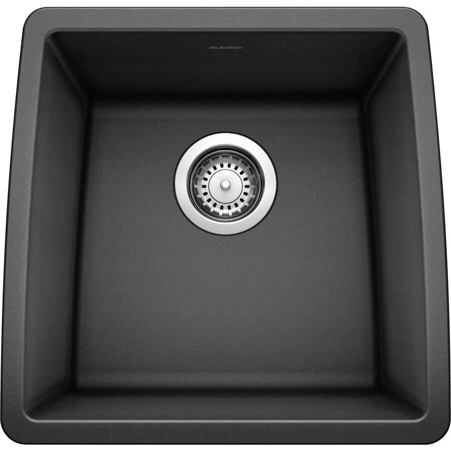 BLANCO Performa 17-in x 17.5-in Anthracite Single-Basin Granite Undermount Residential Kitchen Sink