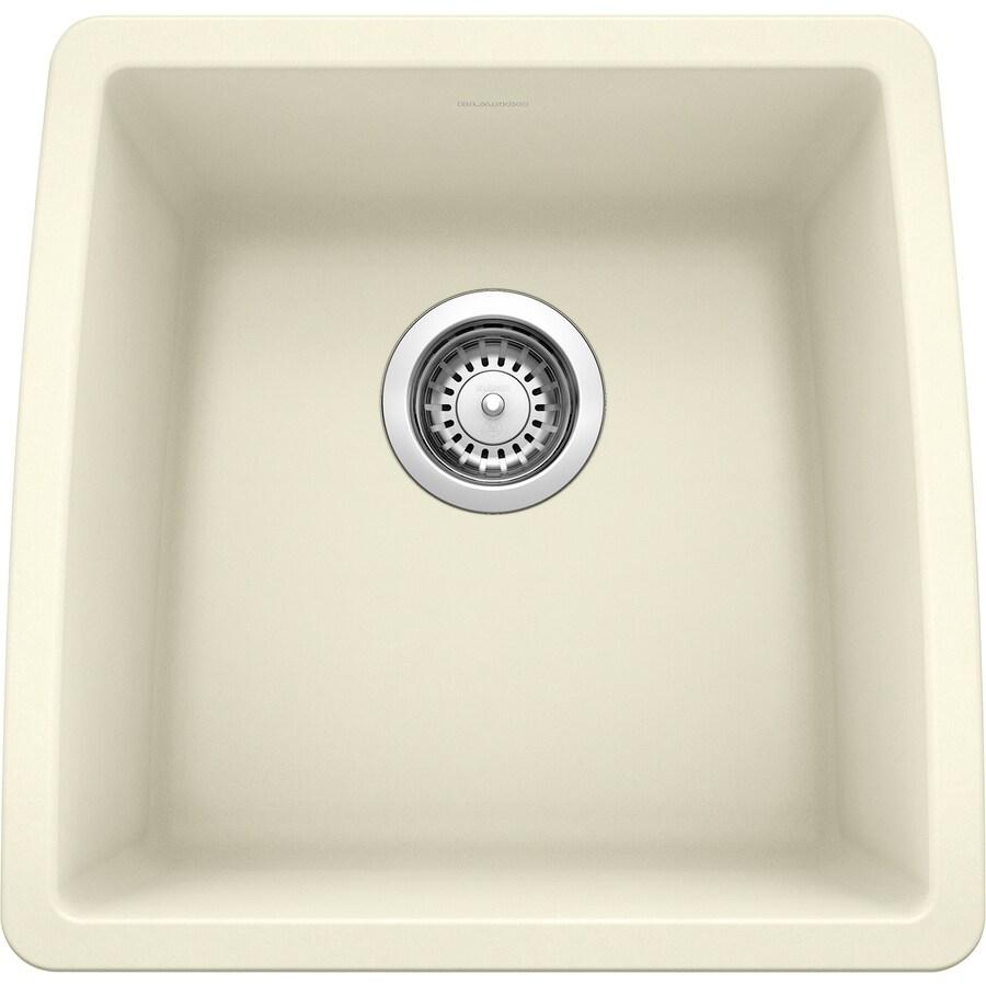 BLANCO Performa 17-in x 17.5-in Biscuit Single-Basin Granite Undermount Residential Kitchen Sink
