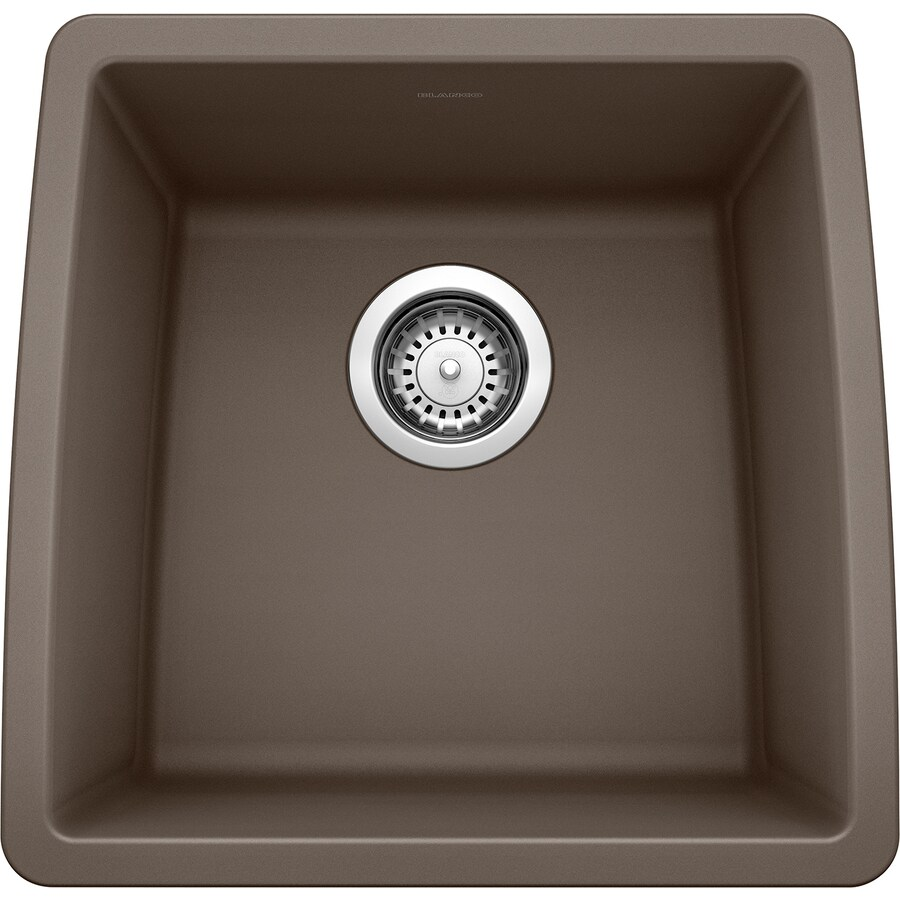 BLANCO Performa 17-in x 17.5-in Cafe Brown Single-Basin Granite Undermount Residential Kitchen Sink