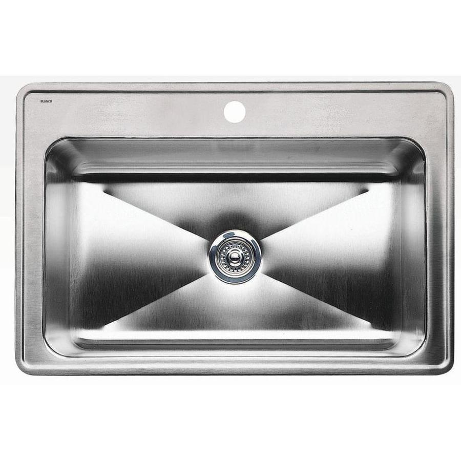 BLANCO Magnum 22-in x 33-in Stainless Steel Single-Basin Drop-in 1-Hole Residential Kitchen Sink