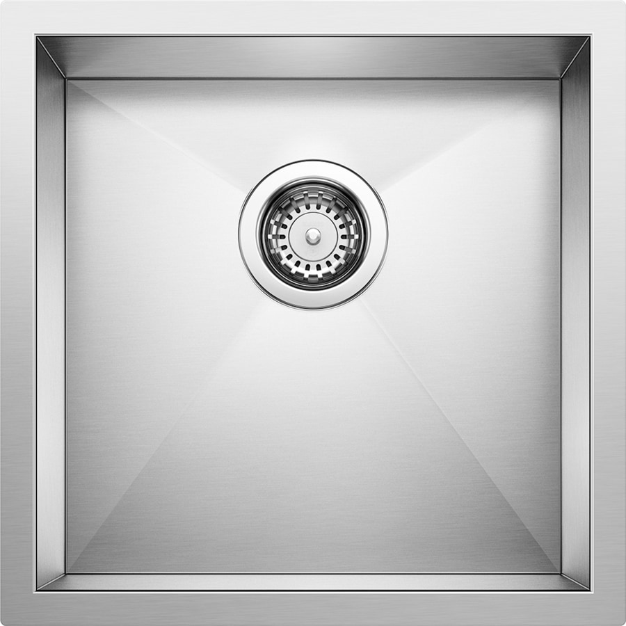 BLANCO Precision 18-in x 19-in Stainless Steel Single-Basin Undermount ...