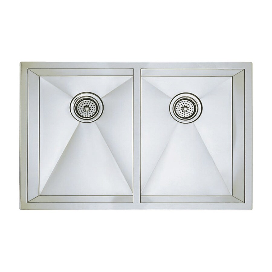BLANCO Precision 18-in x 31-in Stainless Steel Double-Basin Undermount Residential Kitchen Sink