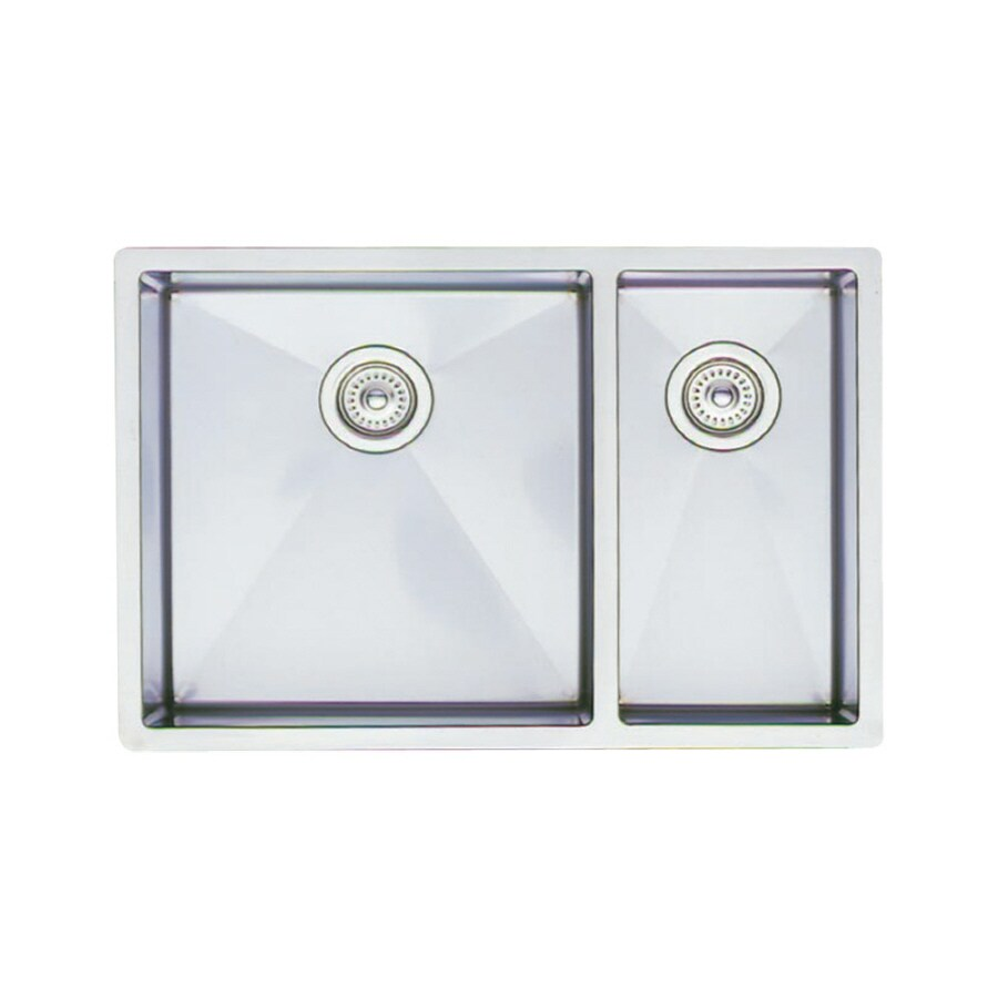 BLANCO Precision 18-in x 31-in Stainless Steel Double-Basin Undermount ...