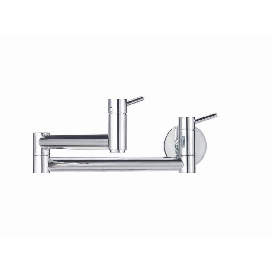 BLANCO Cantata Chrome 2-Handle Pot Filler Wall Mount Kitchen Faucet