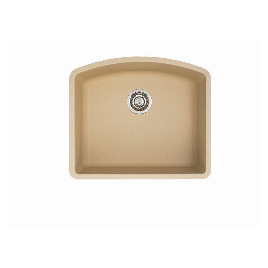 BLANCO Diamond 20.813-in x 24-in Biscotti Single-Basin Granite Undermount Residential Kitchen Sink