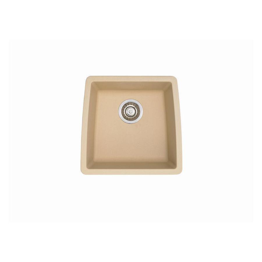 BLANCO Performa 17-in x 17.5-in Biscotti Single-Basin Granite Undermount Residential Kitchen Sink
