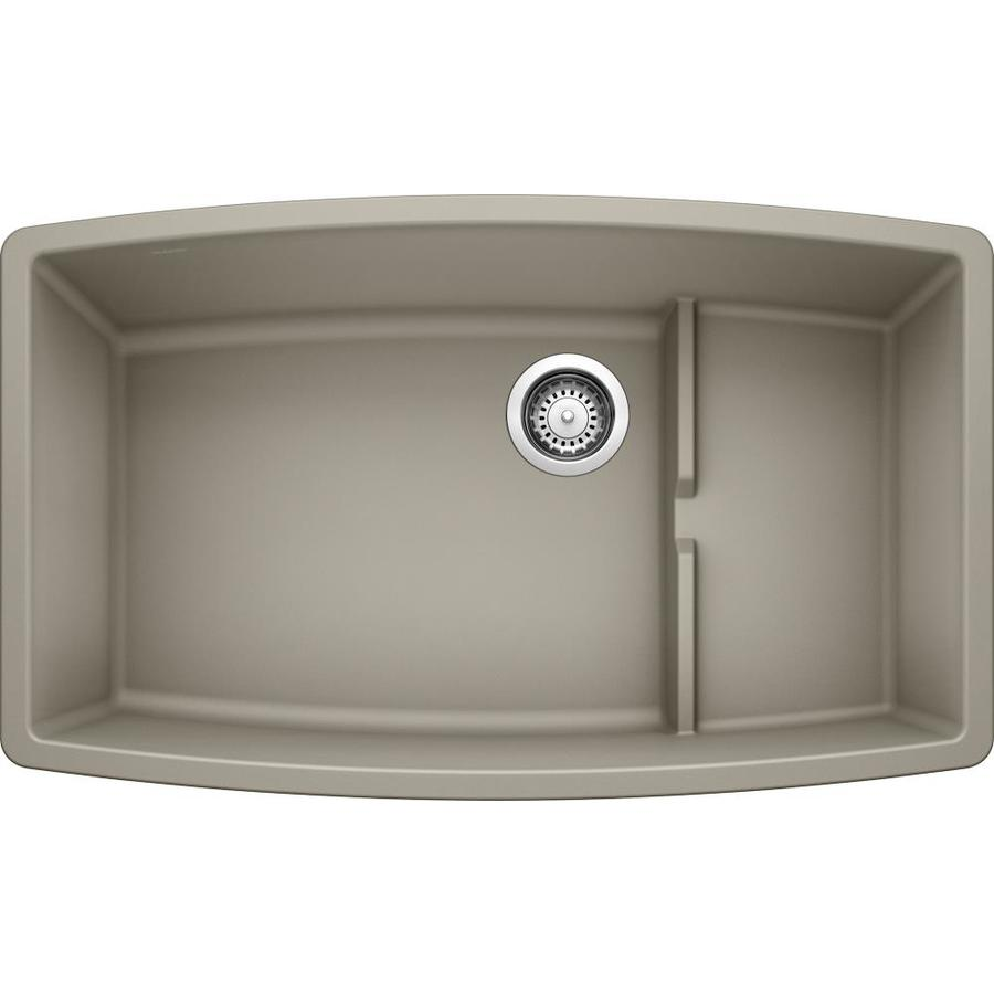 BLANCO Performa 19.5-in x 32-in Truffle Single-Basin Granite Undermount Residential Kitchen Sink
