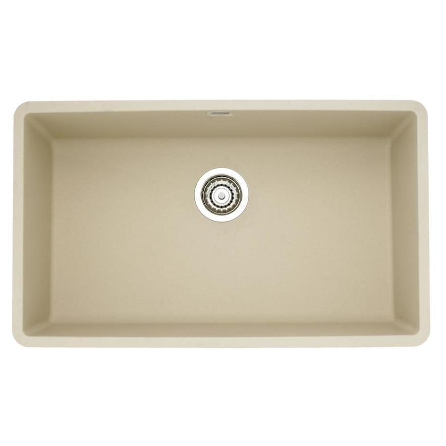 BLANCO Precis 18.75-in x 32-in Biscotti Single-Basin Granite Undermount Residential Kitchen Sink