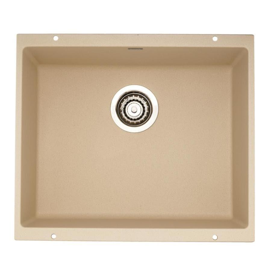 BLANCO Precis 18.11-in x 20.87-in Biscotti Single-Basin Granite Undermount Residential Kitchen Sink