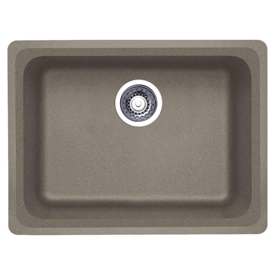 BLANCO Vision 18-in x 24-in Truffle Single-Basin Granite Undermount Residential Kitchen Sink