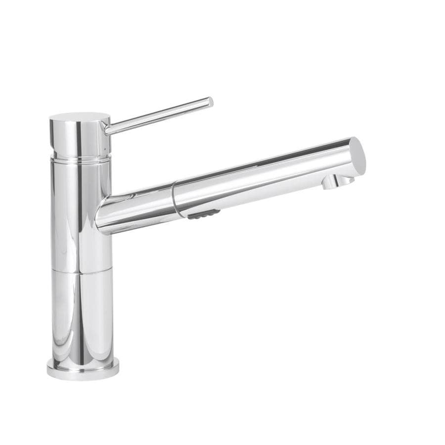 BLANCO Alta Compact Chrome 1-Handle Pull-Out Kitchen Faucet