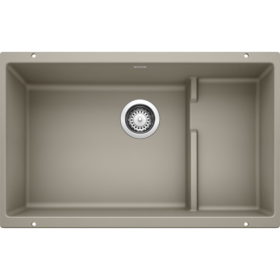 BLANCO Precis 18.125-in x 28.75-in Truffle Single-Basin Granite Undermount Residential Kitchen Sink