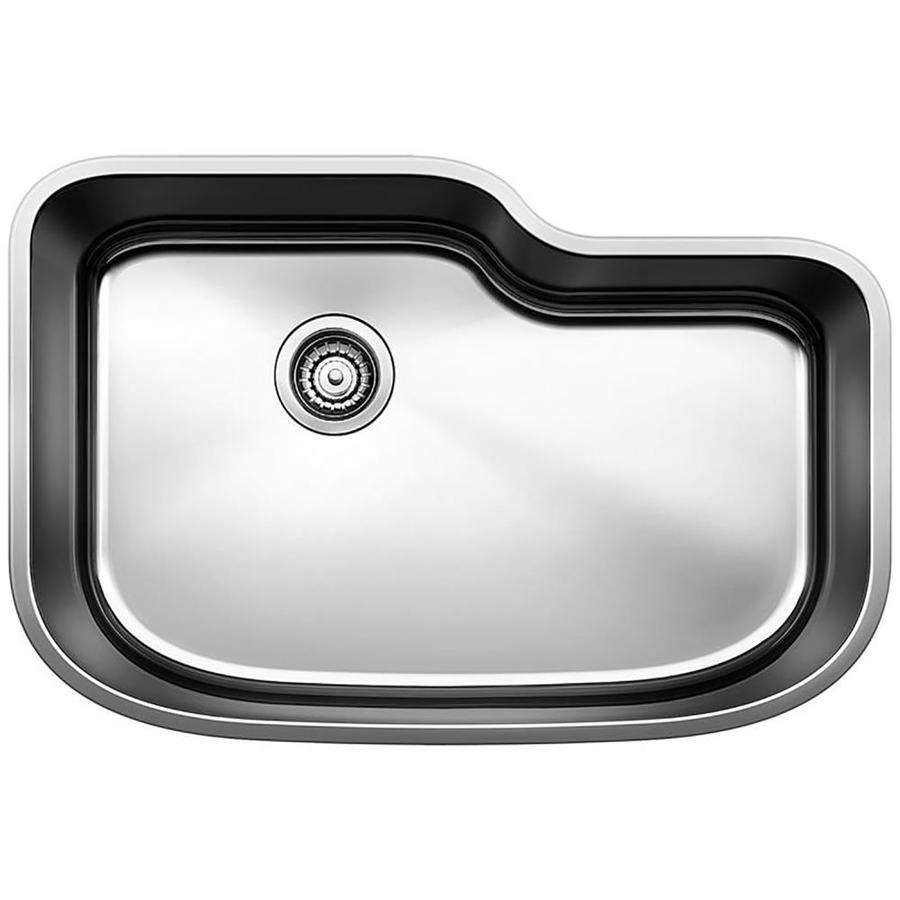 BLANCO One 30-in x 20-in Satin Single-Basin Stainless Steel Undermount Residential Kitchen Sink