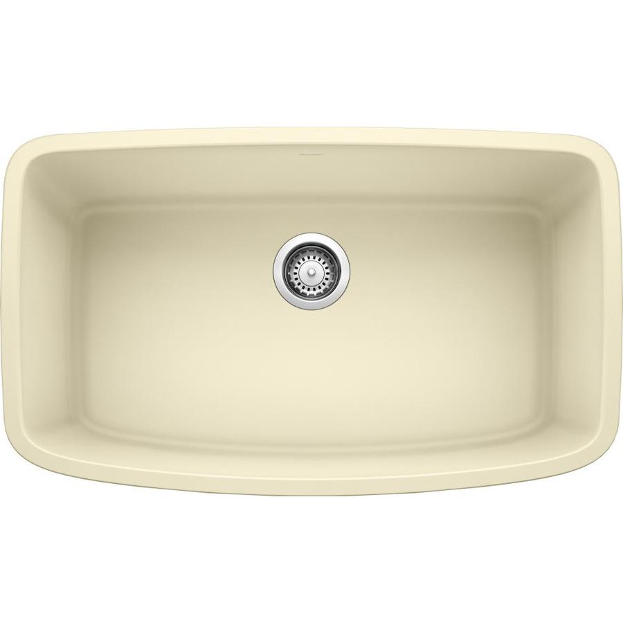 BLANCO Valea 19-in x 32-in Biscotti Single-Basin Granite Undermount Residential Kitchen Sink