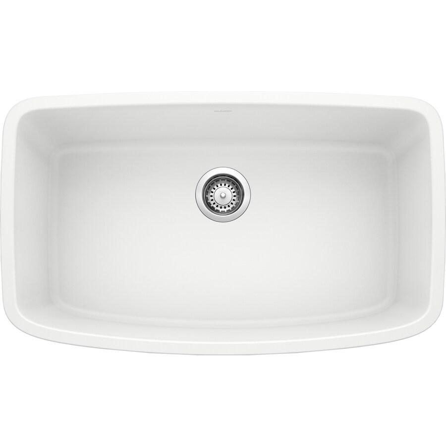 Shop BLANCO Valea 19-in X 32-in White Single-Basin Granite
