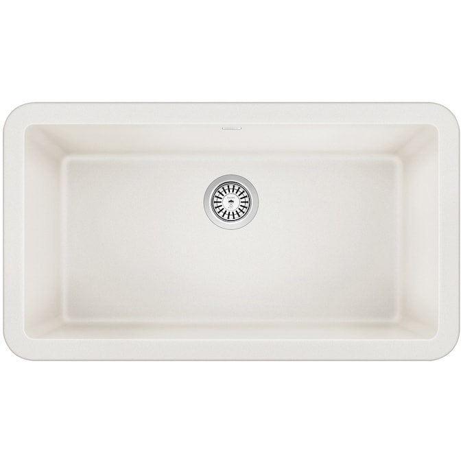 Shop BLANCO Ikon 33-in x 19-in White Single Bowl Tall from Lowes on Openhaus