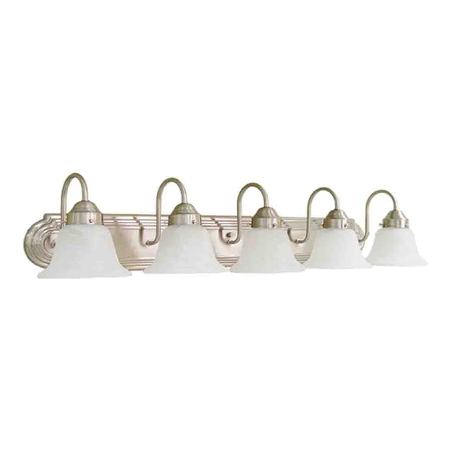 Caballo 5-Light Brushed Nickel Vanity Light