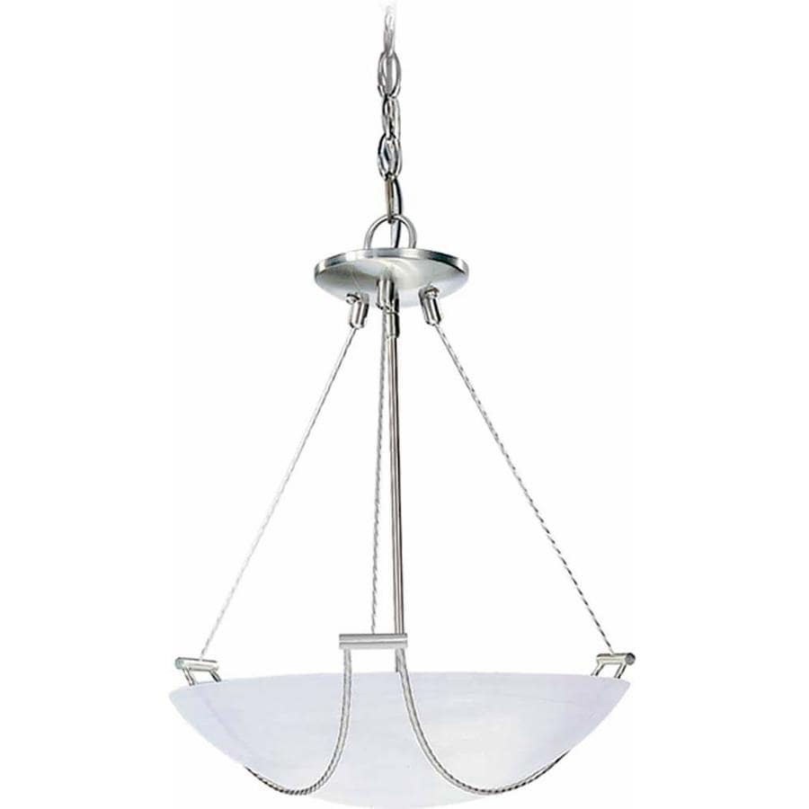 Anthon 17.25-in Brushed Nickel Single N/A Pendant