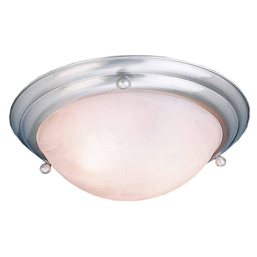 Abilene 15.5-in W Brushed Nickel Ceiling Flush Mount Light
