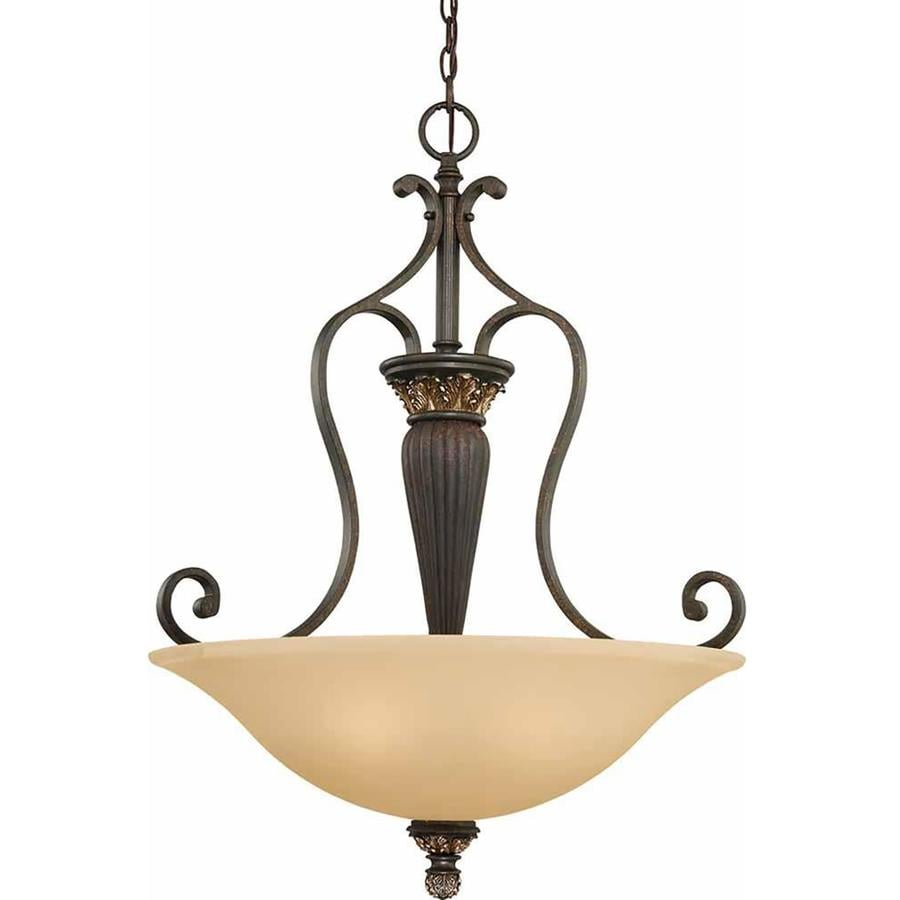 Geissler 25-in Vintage Bronze and Antique Gold Single N/A Pendant