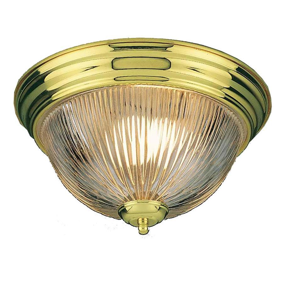 Amsden 11-in W Polished Brass Ceiling Flush Mount Light