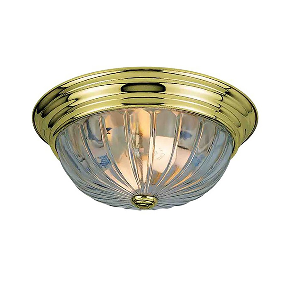 Creola 13-in W Polished Brass Ceiling Flush Mount Light