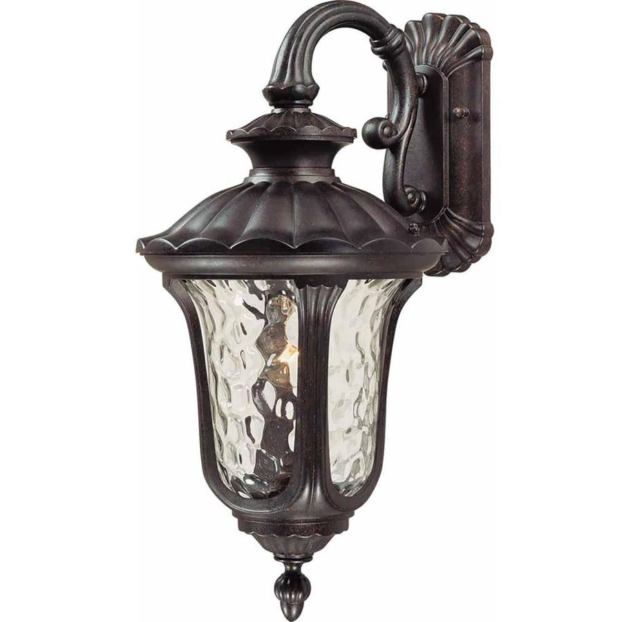 Manteno 18.5-in H Vintage Bronze Outdoor Wall Light