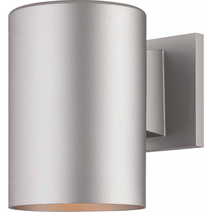 Waucoma 7.25-in H Silver Grey Outdoor Wall Light