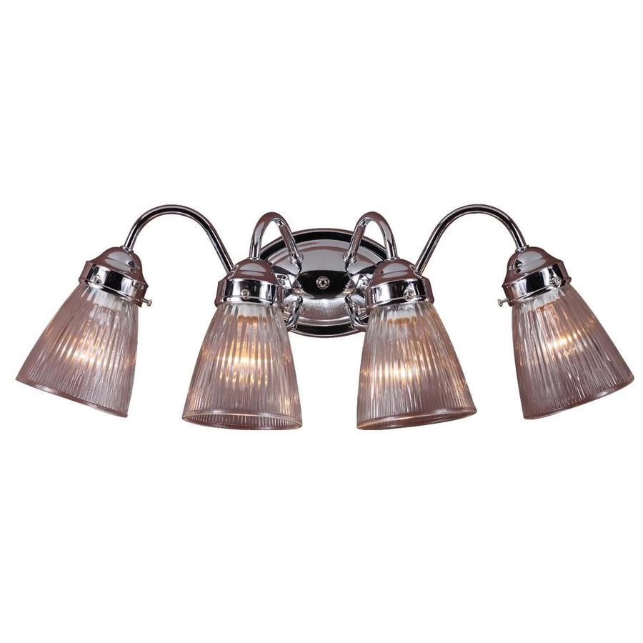 4 Light Brushed Nickel Vanity Lights : Shop Kenvil 4-Light Brushed Nickel Vanity Light at Lowes.com
